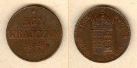Haus Habsburg  Österreich Ungarn Kaiserreich 1 Kreuzer / Egy Krajczar 1848  f.st