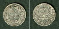 Kleinmünzen 1/2 Mark  Deutsches Reich 1/2 Mark 1911 F  ss-vz  selten