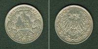 Kleinmünzen 1/2 Mark  Deutsches Reich 1/2 Mark 1911 J  ss  selten