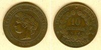 Frankreich  FRANKREICH 10 Centimes 1896 A  ss