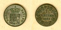 Bayern  Bayern 1 Kreuzer 1843  ss-vz