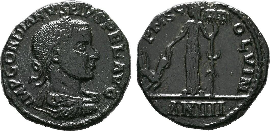 Æ-Sesterz Jahr 4 = 242/243, Viminacium in Moesia superior (K RÖMISCHE KAISERZEIT Gordianus III., 238-244. Schwarzgrüne Patina, Vorzüglich