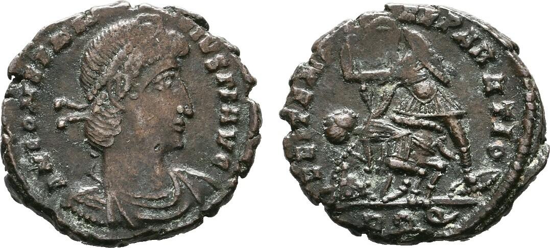 Æ-Follis Aquileia. RÖMISCHE KAISERZEIT Constantius II., 337-361. Vorzüglich