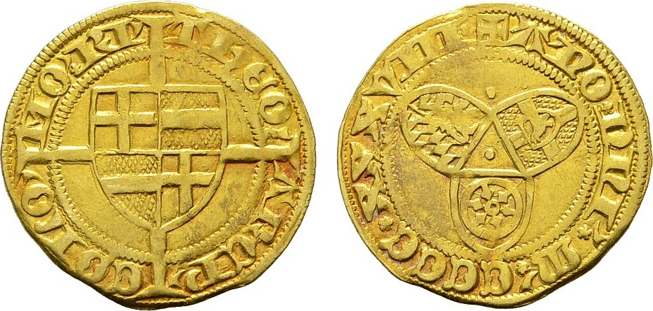 Goldgulden 1438, Riel. KÖLN Dietrich II. von Moers, 1414-1463. Sehr schön