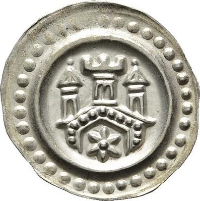 Brakteat (um 1275). DAS BODENSEEGEBIET Anonym, 1268-1300. Prägefrisch.