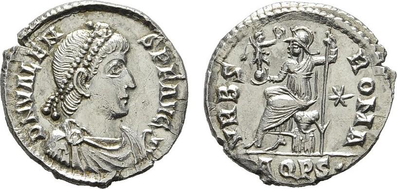 AR-Siliqua 375-378, Aquileia. RÖMISCHE KAISERZEIT Valens, 364-378. Feiner Stempelschnitt. Prägefrisch.