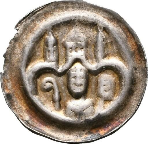 Brakteat (1235-1253). OBERSACHSEN Wilbrand von Käfernburg, 1235-1254. Sehr schön.