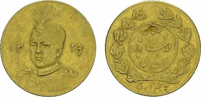 1/2 Toman 1339 AH (1921), Theran. IRAN (PERSIEN) Ahmed, 1909-1925 (AH 1327-1344). Fast vorzüglich-vorzüglich.
