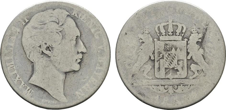 Doppelgulden 1853. BAYERN Maximilian II., 1848-1864. Sehr gut erhalten.