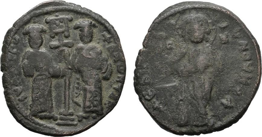 Æ-Follis Konstantinopel. BYZANZ Constantinus X., 1059-1067 und Eudocia. Fast Sehr schön