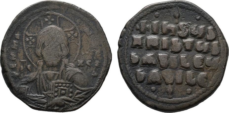 Æ-Follis BYZANZ Anonym, geprägt unter Basilius II., 976-1025 und Constantinus VIII. Schön-Sehr schön