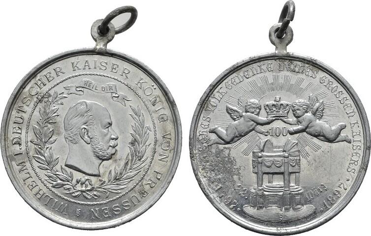 Zinnmedaille 1897 BRANDENBURG-PREUSSEN Wilhelm II., 1888-1918. Sehr schön +