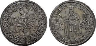 Taler 1603, Hall. DEUTSCHER ORDEN Erzherzog Maximilian von Österreich, 1585-1590-1618. Stempelglanz