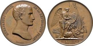 Bronzemedaille (von Andrieu) 1802. FRANKREICH Napoléon I, 1804-1814, 1815. Vorzüglich +