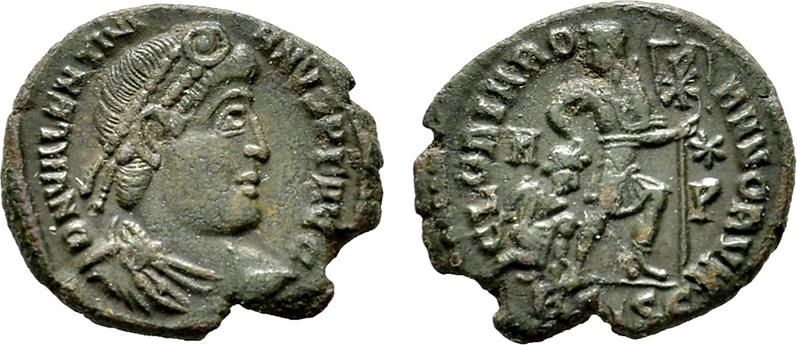 Æ-Follis, Siscia. RÖMISCHE KAISERZEIT Valentinianus II., 375-392. Vorzüglich.
