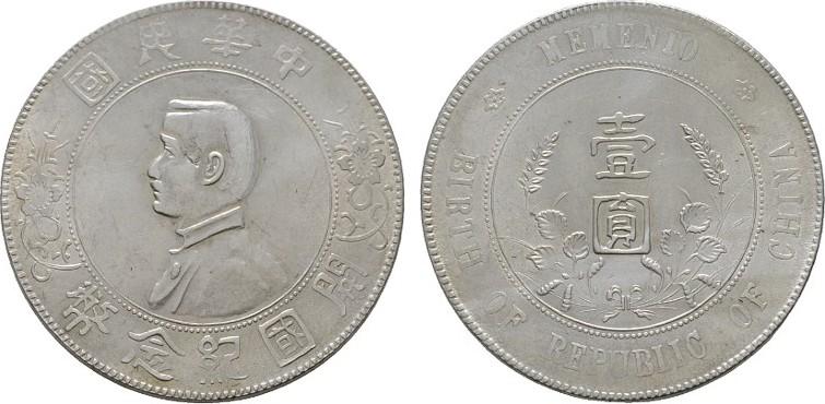 1 Dollar 1927 China Silber