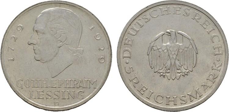 5 Reichsmark 1929, G. WEIMARER REPUBLIK Vorzüglich -.