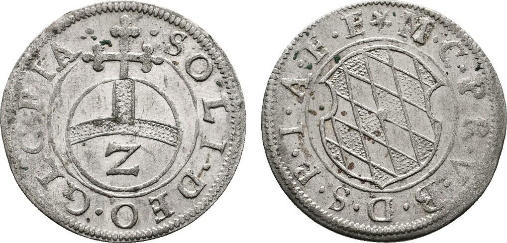 1/2 Batzen o.J. BAYERN Maximilian I., 1598-1651. Prägefrisch.