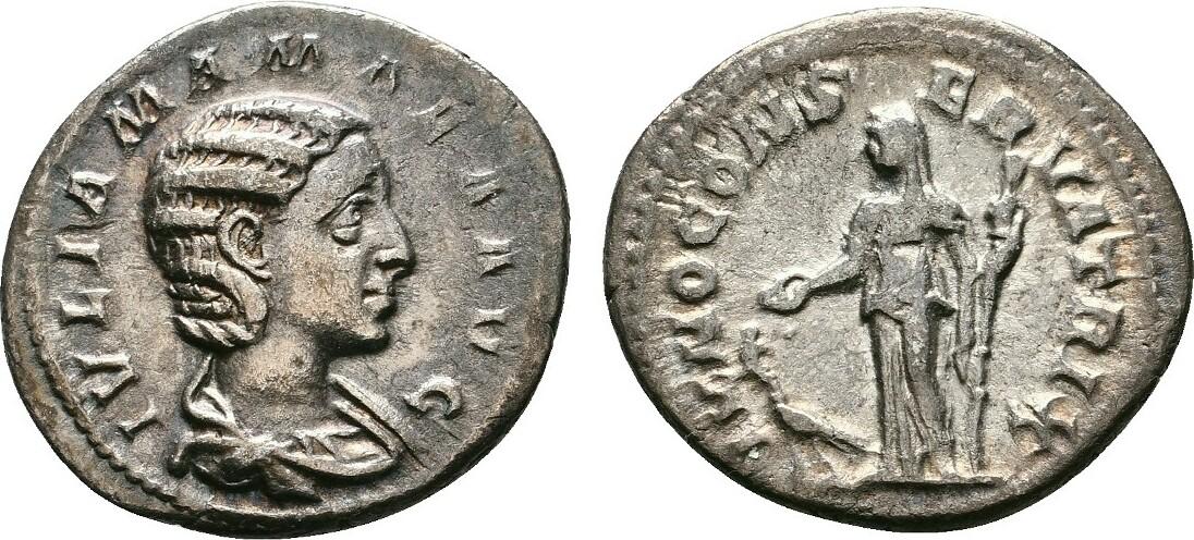 AR-Denar (222), Rom. RÖMISCHE KAISERZEIT Severus Alexander, 222-235 und Julia Mamaea. Sehr schön +.