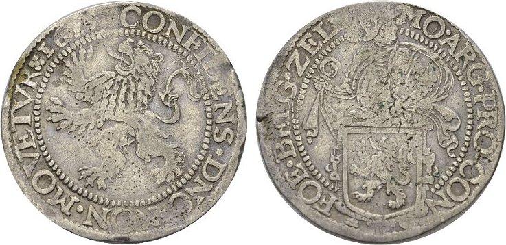 Löwentaler 1616, Middelburg. NIEDERLANDE Provinz. Sehr schön.