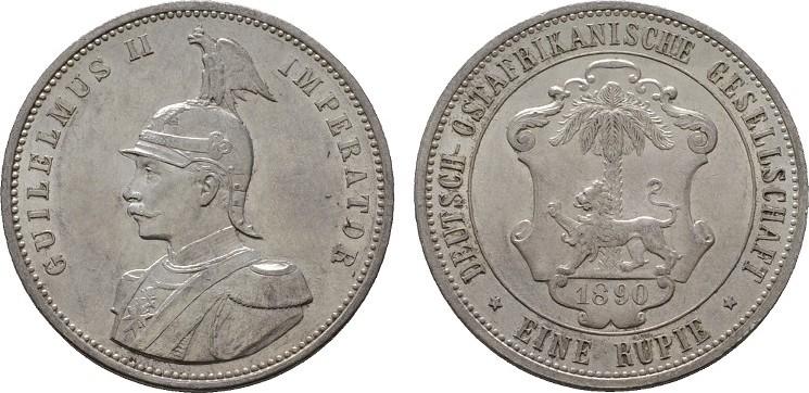 1 Rupie 1890. DEUTSCHE KOLONIEN Stempelglanz.