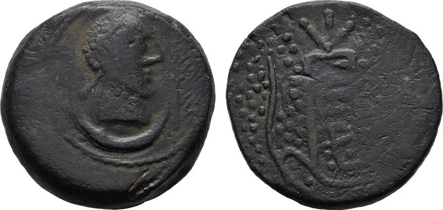 Æ-As, (159-140 v. Chr.) Ulia (Montemayor, Provinz Cordob IBEROKELTEN Schwarze Patina. Schön-Sehr schön
