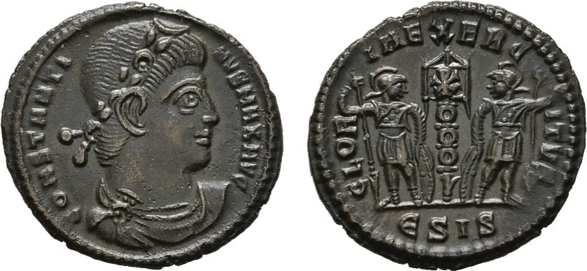 Æ-Follis Siscia. RÖMISCHE KAISERZEIT Constantinus II., 337-340. Stempelglanz
