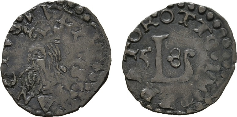 Quattrino 1658. ITALIEN Republik, 1369-1799. Sehr schön +