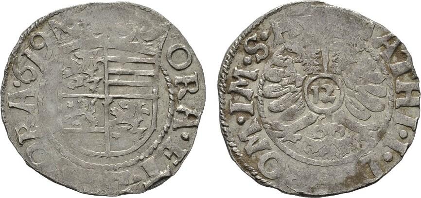 Kipper-12 Kreuzer 1619. BRAUNSCHWEIG UND LÜNEBURG Friedrich Ulrich, 1613-1634. Sehr schön