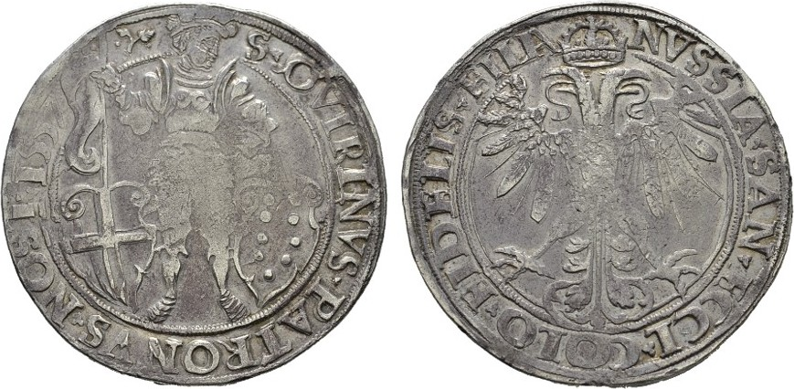 Reichstaler 1557. NEUSS Für diesen Typus gut ausgeprägt. Sehr schön +
