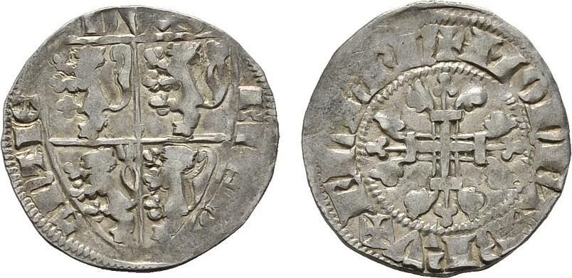 Sterling Leeuwen. BELGIEN Johann III., 1312-1355. Sehr schön +