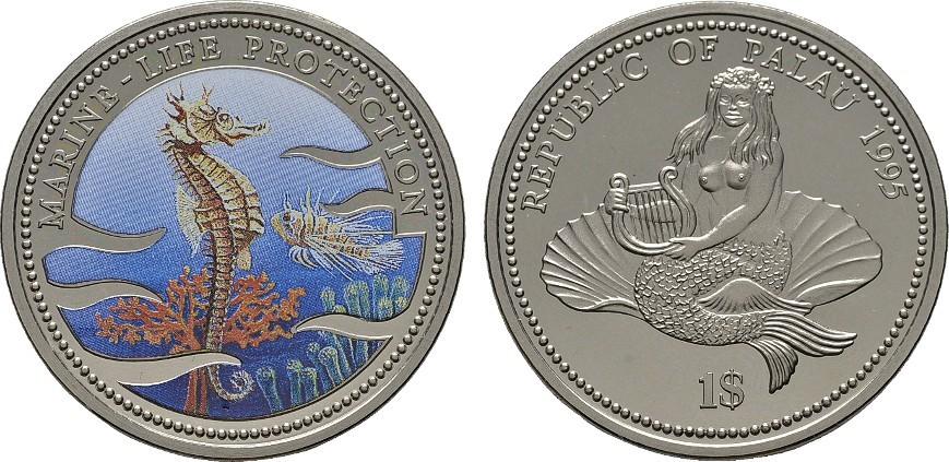 1 Dollar farbig 1995 Palau