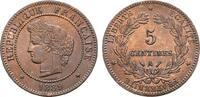 Ku.-5 Centimes 1889, A - Paris. FRANKREICH 3. Republik, 1870-1940. Präg... 101,88 CHF  zzgl. 4,83 CHF Versand