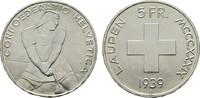 5 Franken 1939, Laupen. SCHWEIZ  Fast Stempelglanz/Stempelglanz.  170,00 EUR  +  7,00 EUR shipping