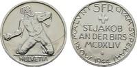 5 Franken 1944, St.Jakob. SCHWEIZ  Fast Stempelglanz/Stempelglanz.  35,00 EUR  +  7,00 EUR shipping