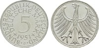 5 DM 1951 J. BUNDESREPUBLIK DEUTSCHLAND  Stempelglanz  59,00 EUR  zzgl. 4,50 EUR Versand