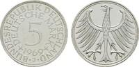 5 DM 1969 J. BUNDESREPUBLIK DEUTSCHLAND  Fast Stempelglanz  17,00 EUR  zzgl. 4,50 EUR Versand