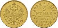 3 Rubel 1877, HI - St. Petersburg. RUSSLAND Alexander II., 1855-1881. F... 3400,00 EUR kostenloser Versand
