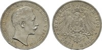 3 Mark 1908. Preussen Wilhelm II., 1888-1918. Sehr schön +  15,00 EUR  +  7,00 EUR shipping