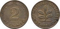 2 Pfennig 1959, G. BUNDESREPUBLIK DEUTSCHLAND  Bankfrisch  8,00 EUR  +  7,00 EUR shipping
