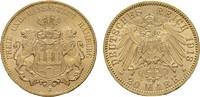 20 Mark 1913, J. Hamburg Freie und Hansestadt. Fast Stempelglanz/ Stemp... 455,77 CHF  zzgl. 4,83 CHF Versand