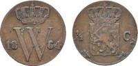 Ku.-1/2 Cent 1864. NIEDERLANDE Wilhelm III., 1849-1890. Sehr schön +.  32,17 CHF  zzgl. 4,83 CHF Versand