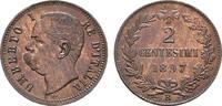 Ku.-2 Centesimi 1895, Rom. ITALIEN Umberto I., 1878-1900. Stempelglanz.  48,26 CHF  zzgl. 4,83 CHF Versand