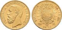 20 Mark 1873, G. Baden Friedrich I., 1852-1907. Vorzüglich.  650,00 EUR free shipping