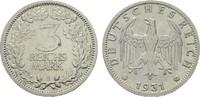 3 Reichsmark 1931, E. WEIMARER REPUBLIK  Vorzüglich -Stempelglanz  471,86 CHF  zzgl. 4,83 CHF Versand