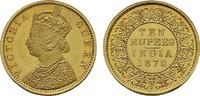 10 Rupees 1870, Kalkutta,  Early Restrike . INDIEN Victoria, 1837-1891.... 626239 руб 9850,00 EUR kostenloser Versand