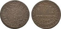 Ku.-6 Pfennig 1745. PADERBORN Clemens August von Bayern, 1719-1761. Vor... 2543 руб 40,00 EUR  zzgl. 286 руб Versand
