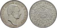 5 Mark 1914, E. Sachsen Friedrich August III., 1904-1918. Stempelglanz  190,00 EUR  +  7,00 EUR shipping