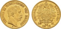 Hessen 10 Mark Ludwig III., 1848-1877.