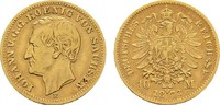 10 Mark 1873 E Sachsen Johann, 1854-1873. Sehr schön  316,36 CHF  zzgl. 4,83 CHF Versand